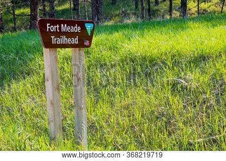 Sturgis, Sd, Usa - May 29, 2019: The Fort Meade Trail Head