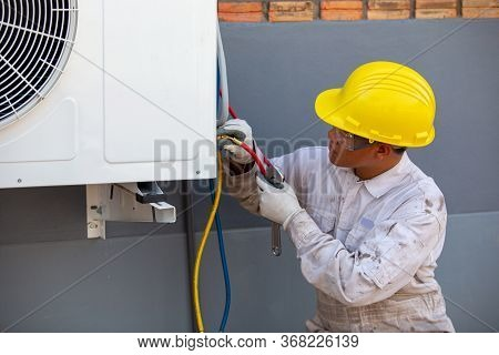 Air Conditioning Installation By Expert Technicians Outside