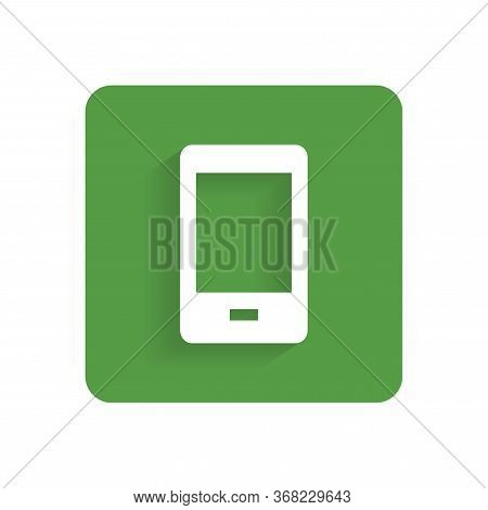 Smartphone. Flat Icon, Object Isolated On White Background. Illustration For Design.