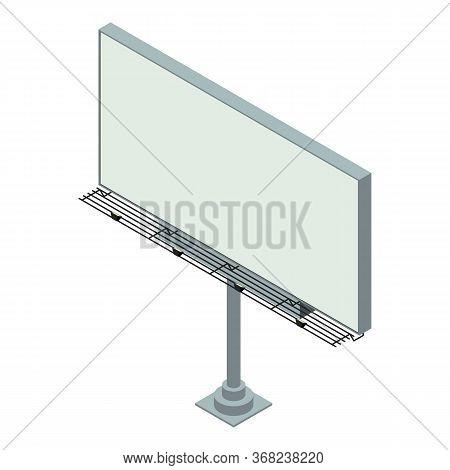 Market Street Billboard Icon. Isometric Of Market Street Billboard Vector Icon For Web Design Isolat