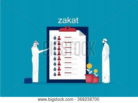 Businessman Meeting About Zakat Menage On Board