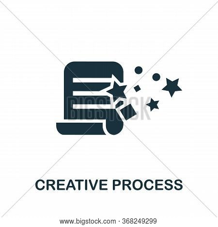 Creative Process Icon. Simple Illustration From Creative Package Collection. Creative Creative Proce