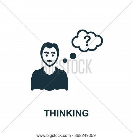 Thinking Icon. Simple Illustration From Creative Package Collection. Creative Thinking Icon For Web