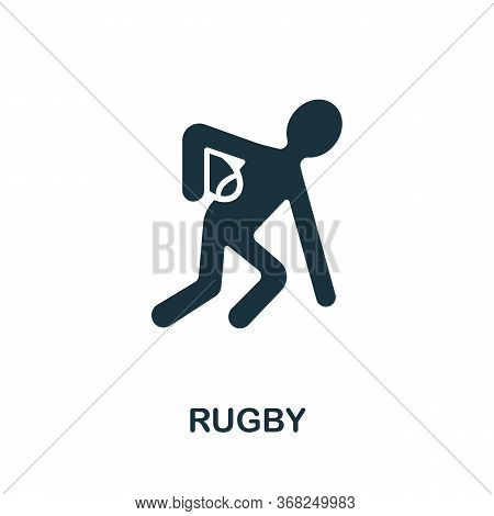 Rugby Icon From Australia Collection. Simple Line Rugby Icon For Templates, Web Design And Infograph