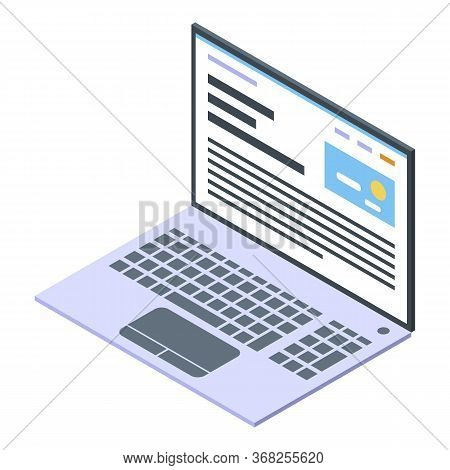 Laptop Art Director Icon. Isometric Of Laptop Art Director Vector Icon For Web Design Isolated On Wh