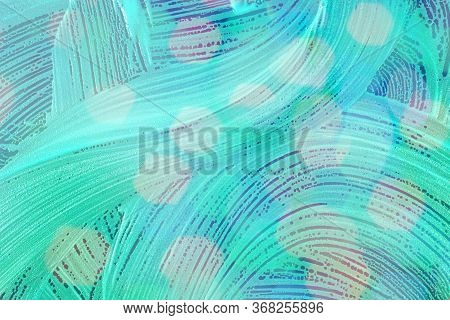 Soap Bubbles Background- Suds Liquid. Water Abstract- Pattern Te