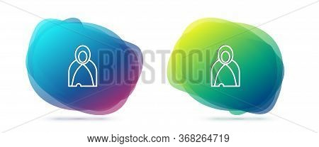 Set Line Mantle, Cloak, Cape Icon Isolated On White Background. Magic Cloak Of Mage, Wizard And Witc