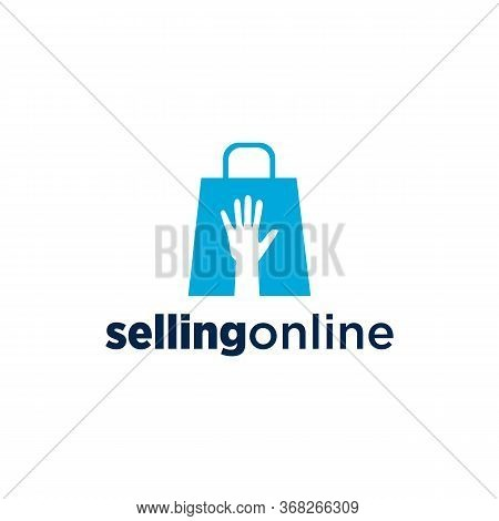 Selling Online Logo Vector And Business, Shopping Bag, Shopping