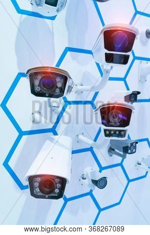 Collection Of Different Control Recording And Inspection Electronic Cameras. Protection Property System Technology