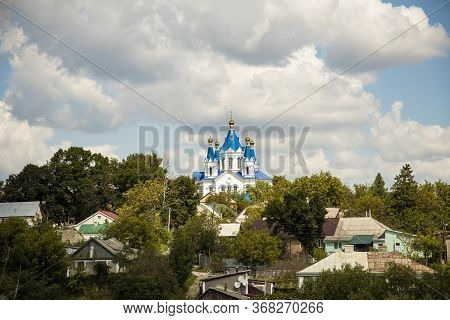 Orthodox Church Rural Village Rustic Country Side Scenic Environment Eastern European Region Russia