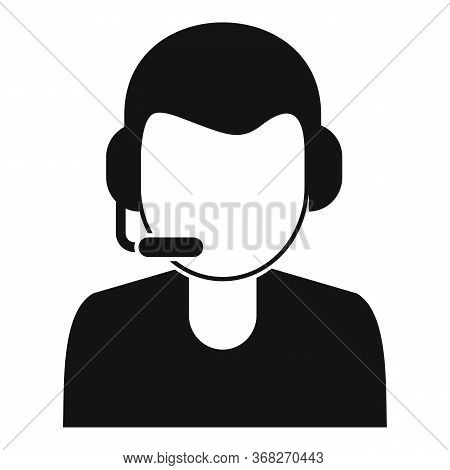 Soccer Commentator Icon. Simple Illustration Of Soccer Commentator Vector Icon For Web Design Isolat