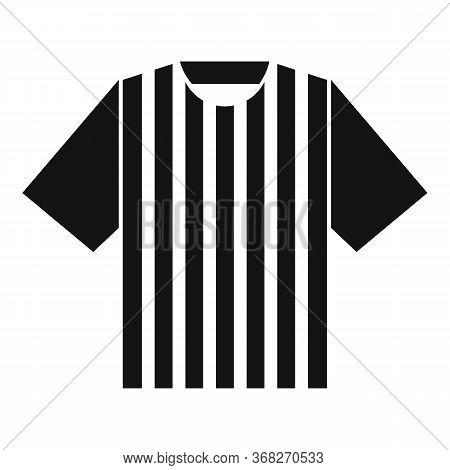 Soccer Referee Tshirt Icon. Simple Illustration Of Soccer Referee Tshirt Vector Icon For Web Design