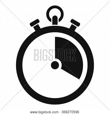Soccer Stopwatch Icon. Simple Illustration Of Soccer Stopwatch Vector Icon For Web Design Isolated O