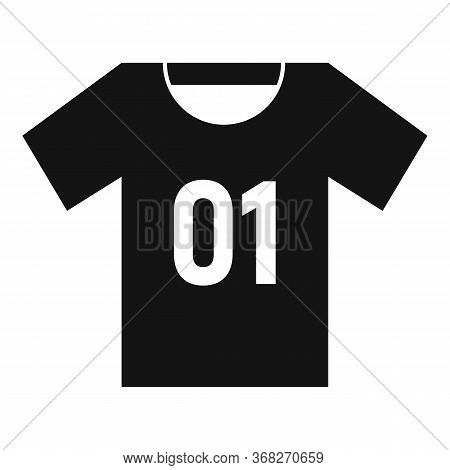 Soccer Player Tshirt Icon. Simple Illustration Of Soccer Player Tshirt Vector Icon For Web Design Is