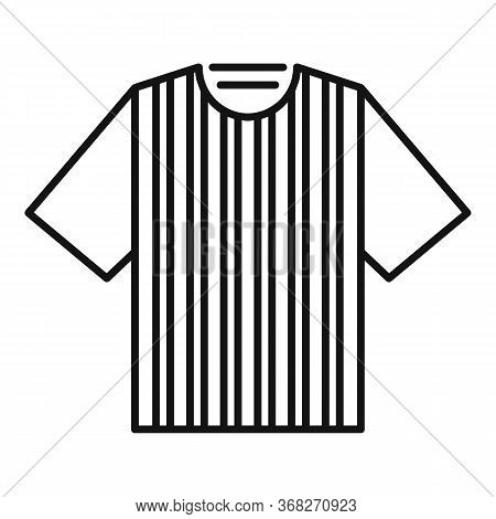 Soccer Referee Tshirt Icon. Outline Soccer Referee Tshirt Vector Icon For Web Design Isolated On Whi