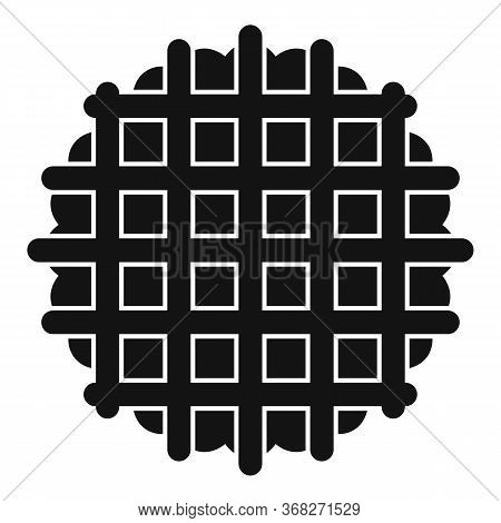 Waffle Cookie Icon. Simple Illustration Of Waffle Cookie Vector Icon For Web Design Isolated On Whit