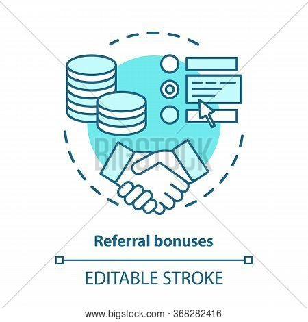 Casino Referral Bonuses Concept Icon. Reward Program Idea Thin Line Illustration. Referral Awards, I