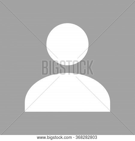 Default Avatar Profile Flat Icon. Social Media User Vector. Portrait Of Unknown A Human Image