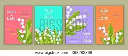Set Of Templates Invitation, Banner, Cover, Poster, Greeting Card, Anniversary, Flyer With Colorful