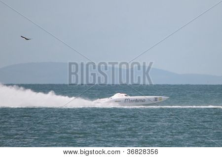 Brisbane, Australia - September 16 : Team Participating In Round 5 Of Offshore Superboat Championshi