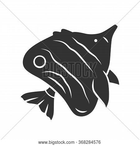 Butterflyfish Glyph Icon. Swimming Fish. Tropical Aquatic Animal. Marine Aquarium. Undersea Inhabita