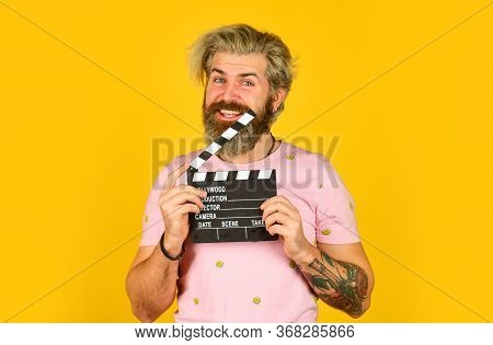 He Loves His Job. Movie Time. Film Director Concept. Catch The Feeling. Professional Actor Ready For