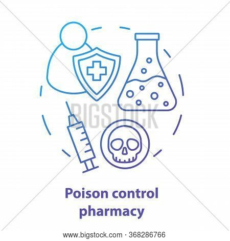 Pharmacy Concept Icon. Poisons Control Pharmacology Branch Idea Thin Line Illustration. Poisonous El