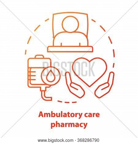 Pharmacy Concept Icon. Ambulatory Care Medication Idea Thin Line Illustration. Clinical, Hospital Pa