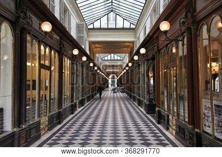 Paris, France - July 20, 2011: People Visit Galerie Vero-dodat In Paris, France. It Is A Famous Hist