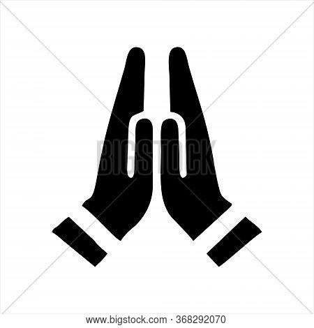 Pray Icon Isolated On White Background. Pray Icon In Trendy Design Style.