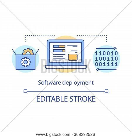 Software Deployment Concept Icon. Application Setup And Support. Program Installation, Configuration