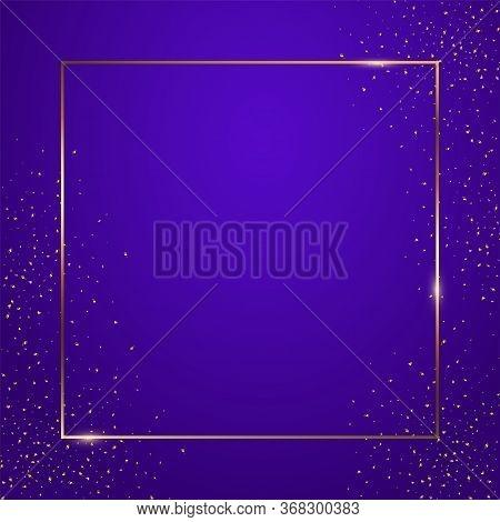 Blue Gradient Square Background Vector Illustration. Elegant Colorful Wallpaper Design. Creative Bac