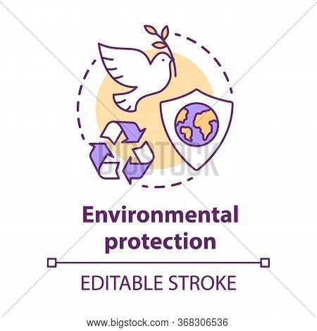 Environmental Protection Concept Icon. Nature Care Idea Thin Line Illustration. Earth Day. Keeping N