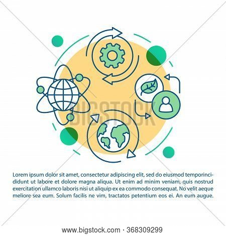 Nature Protection Article Page Vector Template. Biorefining, Waste Utilization. Brochure, Magazine,
