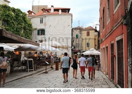 Sibenik, Croatia - September 9, 2016: This Is One Of The Streets Of The Old Seaside Croatian City, F