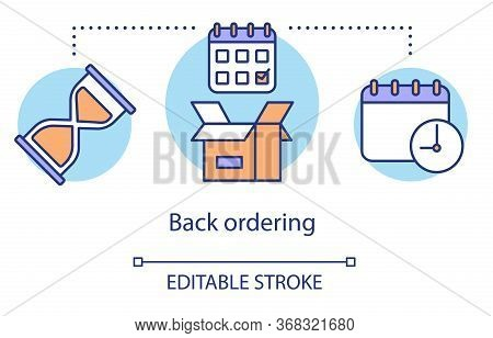 Back Ordering Concept Icon. Product Ordering Idea Thin Line Illustration. Purchasing Goods Out Of St