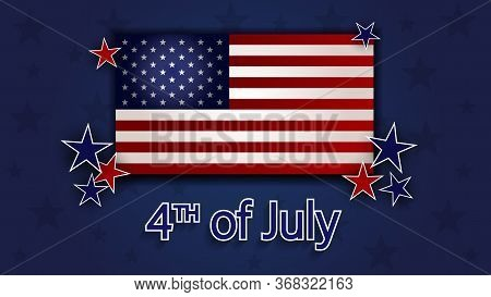 Happy 4th of July - Independence Day Vector Design - July Fourth. Happy Independence Day Poster, 4th of July. Happy Independence Day - Fourth of July background. Fourth of July design. USA Independence Day banner. Vector illustration.