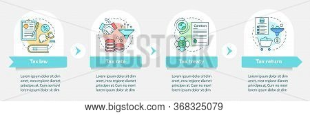 Taxes System Vector Infographic Template. Tax Law. Business Presentation Design Elements. Data Visua