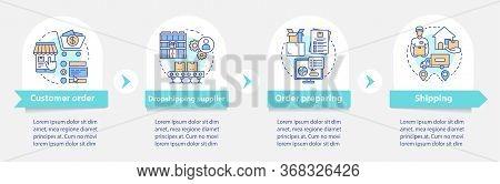 Dropshipping Vector Infographic Template. Supplier. Business Presentation Design Elements. Data Visu