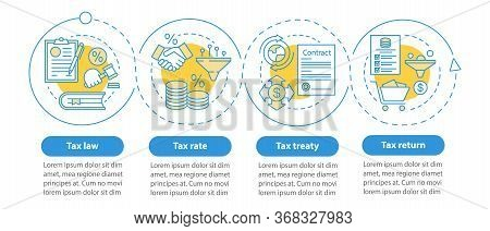 Taxes System Vector Infographic Template. Tax Rate. Business Presentation Design Elements. Data Visu