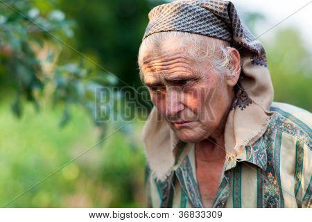 Closeup Portrait Of A Senior Woman