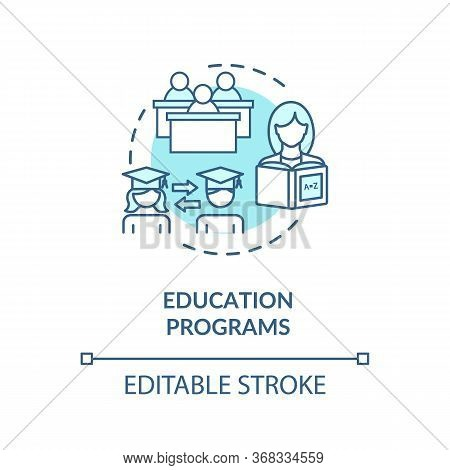 Higher Education Programs Concept Icon. Learning Process. Academic Degree. University Students Excha