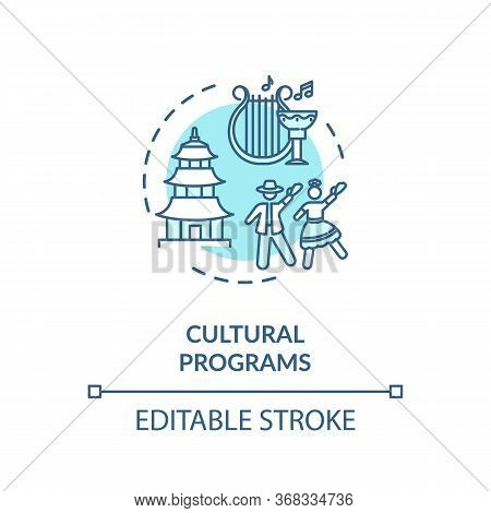 Cultural Programs Concept Icon. Multinational Society. Ethnic Holidays Celebration. Multicultural Ac