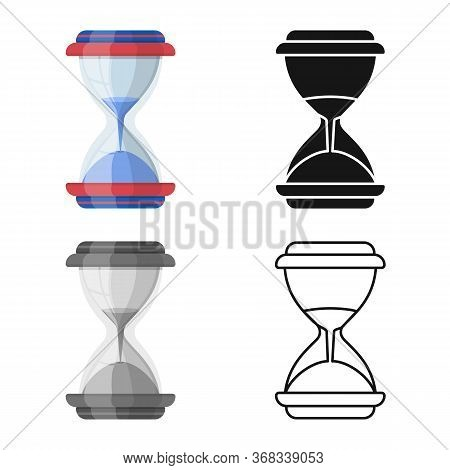 Isolated Object Of Sandglass And Flow Symbol. Graphic Of Sandglass And Transparent Vector Icon For S