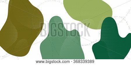 Modern Camouflage Composition. Summer Forest Wave Banner. Hipster Camo Military Texture. Trendy Camo