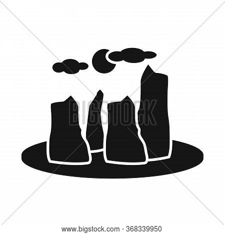 Isolated Object Of Rock And Bay Sign. Set Of Rock And Vietnamese Stock Symbol For Web.