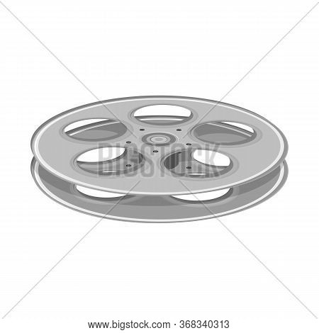 Vector Illustration Of Reel And Movie Sign. Graphic Of Reel And Clapper Stock Vector Illustration.