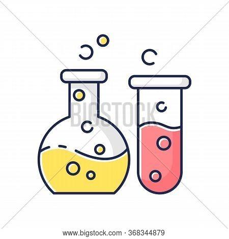 Chemistry Rgb Color Icon. Fundamental Science, Natural Scientific Discipline. Biochemistry, Chemical
