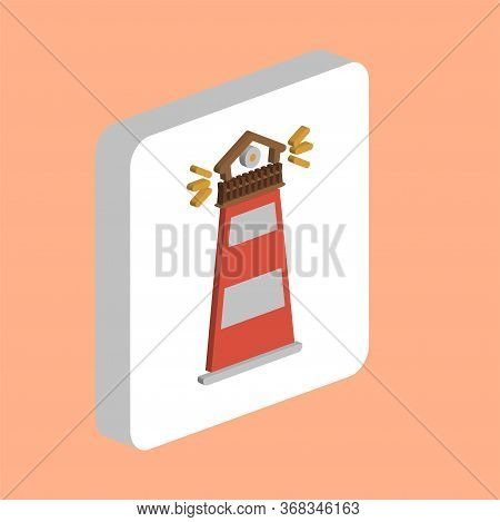 Lighthouse Simple Vector Icon. Illustration Symbol Design Template For Web Mobile Ui Element. Perfec