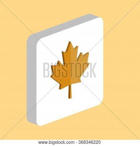 Canadian Maple Leaf Simple Vector Icon. Illustration Symbol Design Template For Web Mobile Ui Elemen